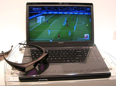 Sony 3D FullHD notebook - Source Tecon
